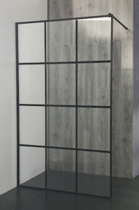 Black grid shower screen 12panels