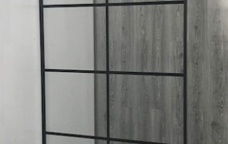 Black grid shower screen 8panels